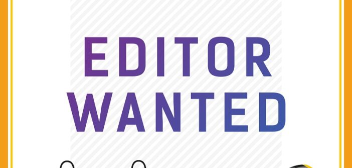 We are hiring: In-house EDITOR  –  Part-time, wfh
